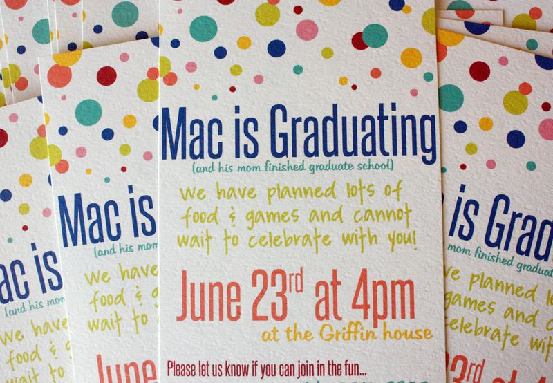 Just Make Stuff...Graduation Party Invitations