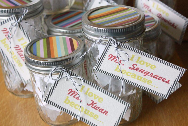 Just Make Stuff Blog...Teacher Love Jars