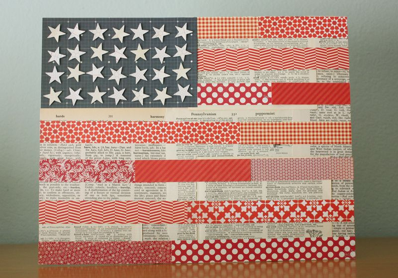 Just Make Stuff Blog...Patterned Paper Flag