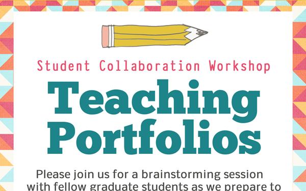 Teaching Portfolio Workshop Flyer