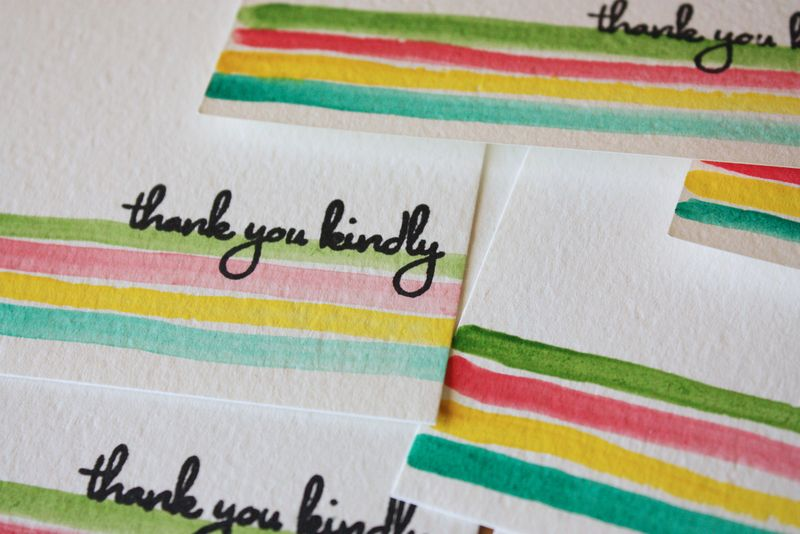 Just Make Stuff Blog...Painted Thank You Notes