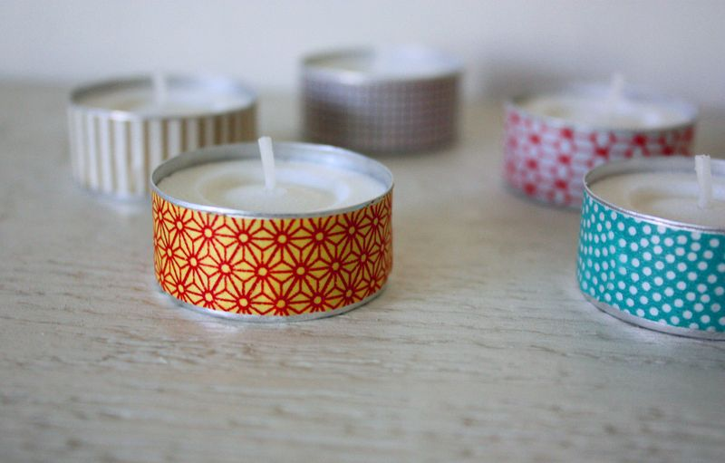 Just Make Stuff Blog...Washi Tape Tealights