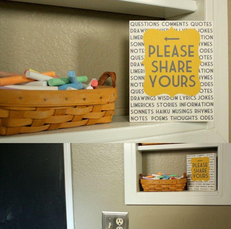 Just Make Stuff Blog...Chalk Board Sign