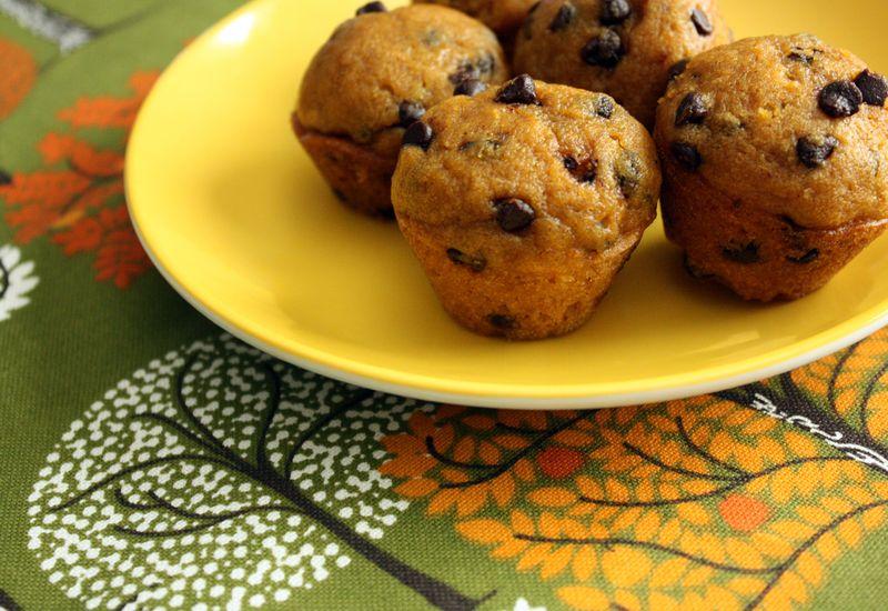 Just Make Stuff Blog...Mini Pumpkin Chocolate Chip Muffins