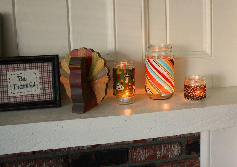 Just Make Stuff Blog...Thanksgiving Mantle