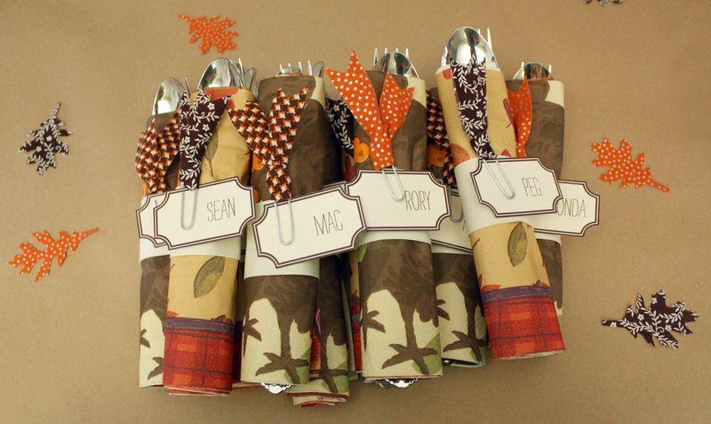 Just Make Stuff Blog...Thanksgiving Napkin Rings