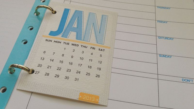 Just Make Stuff Blog...Calendar Pages