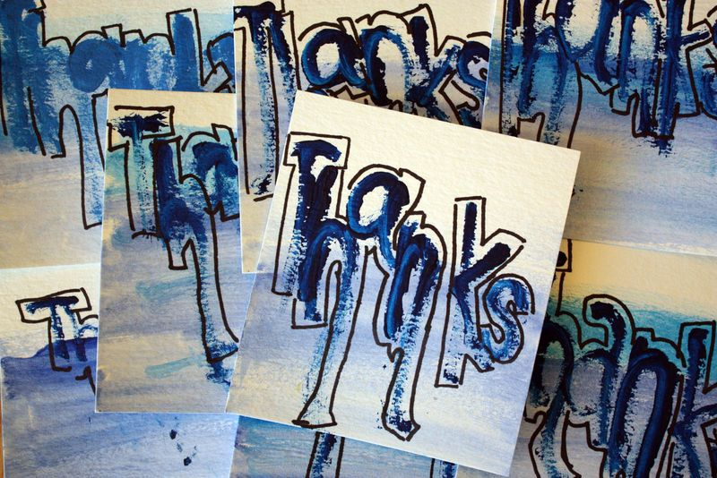 Just Make Stuff Blog...Thank You Notes
