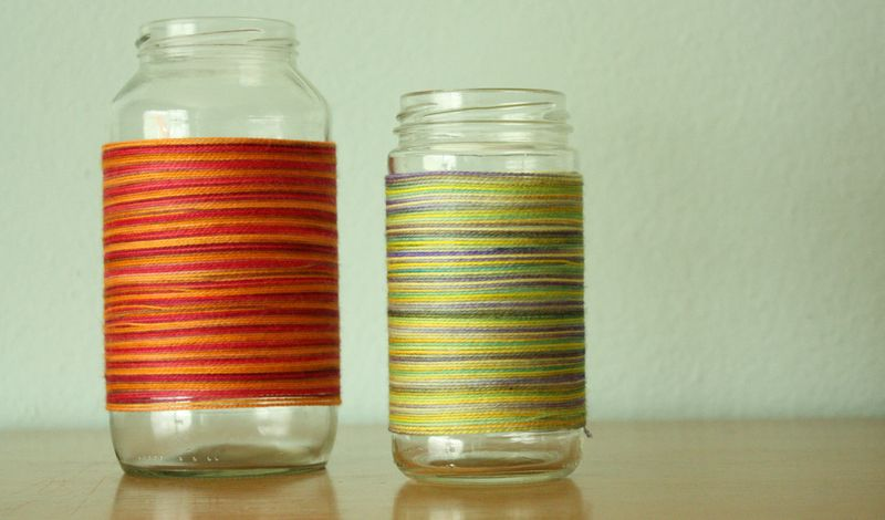 Just Make Stuff Blog...Yarn Wrapped Jars