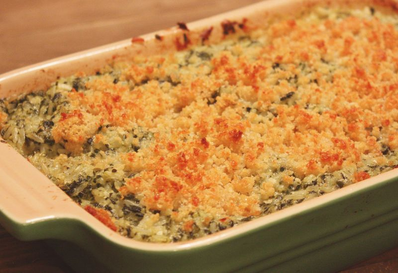 Just Make Stuff Blog...Green Rice Casserole