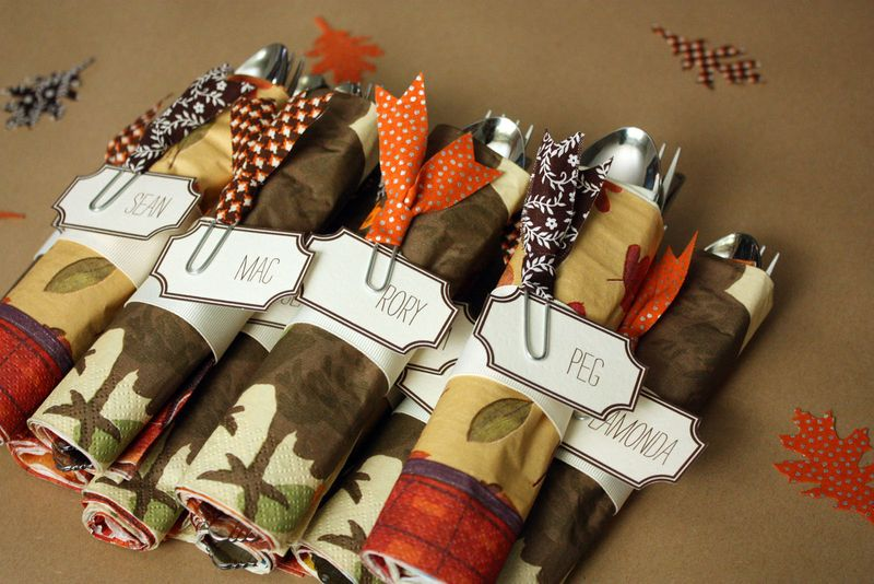 Just Make Stuff Blog...Thanksgiving Napkin Rings
