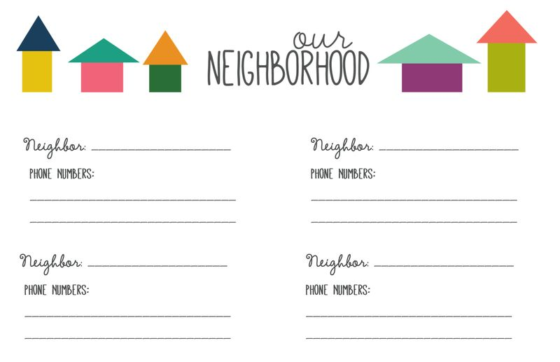 graphic regarding Welcome to the Neighborhood Printable identified as Area Speak to Checklist
