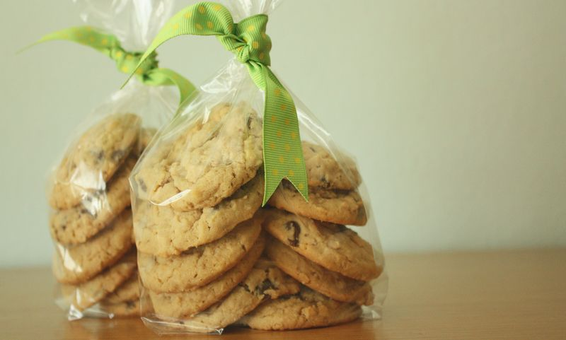 Image result for home made cookies gift wrapped