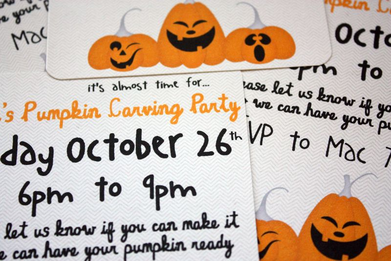 Just Make Stuff Blog...Pumpkin Carving Party Invitations