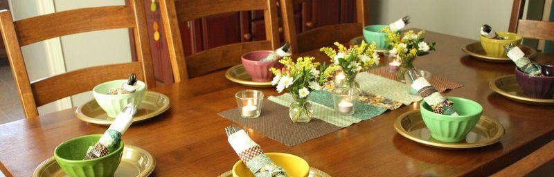 Just Make Stuff Blog...Friendsgiving Table