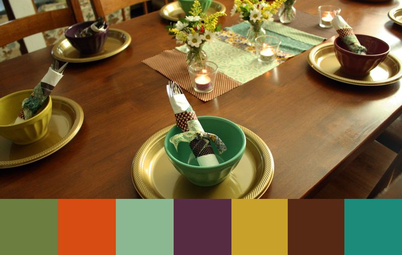 Just Make Stuff Blog...Thanksgiving Color Scheme