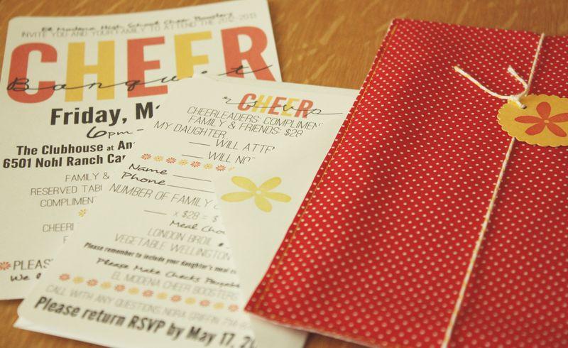 Just Make Stuff...Cheer Banquet Invitations