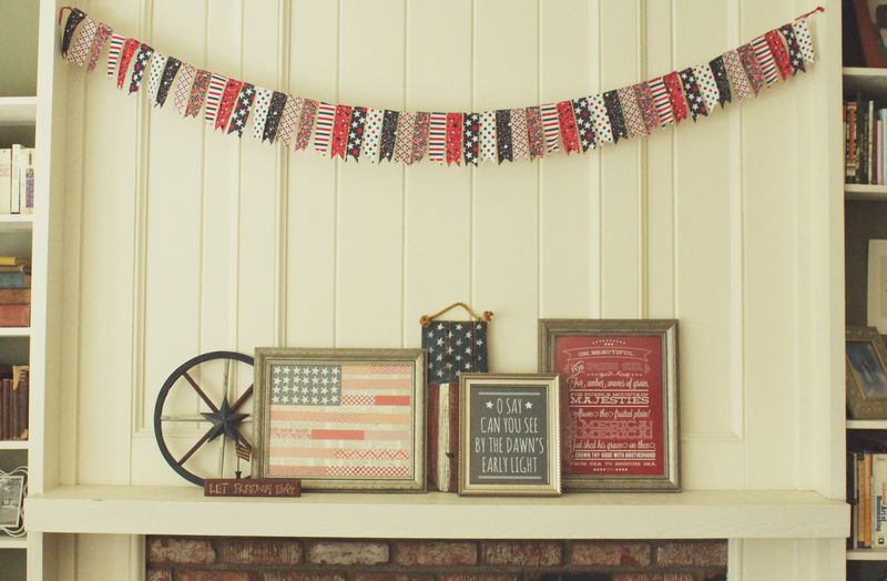 Just Make Stuff Blog...Patriotic Mantle