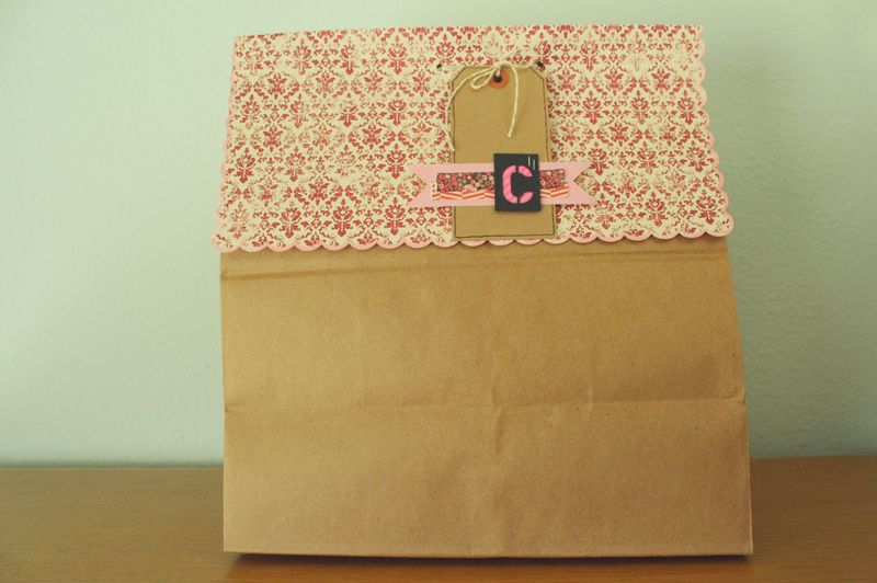 Just Make Stuff Blog...Paper Bag Gift Wrapping