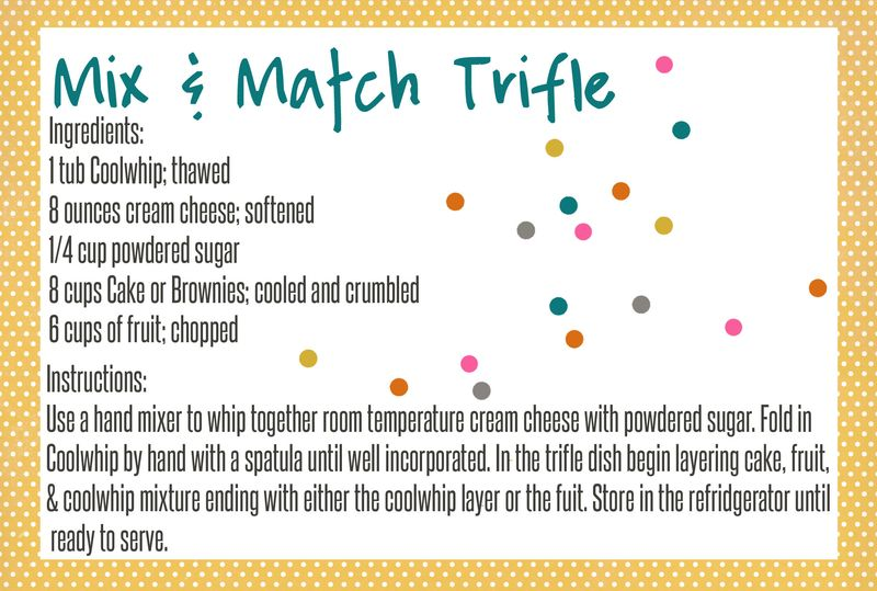 Just Make Stuff Blog...Mix and Match Trifle