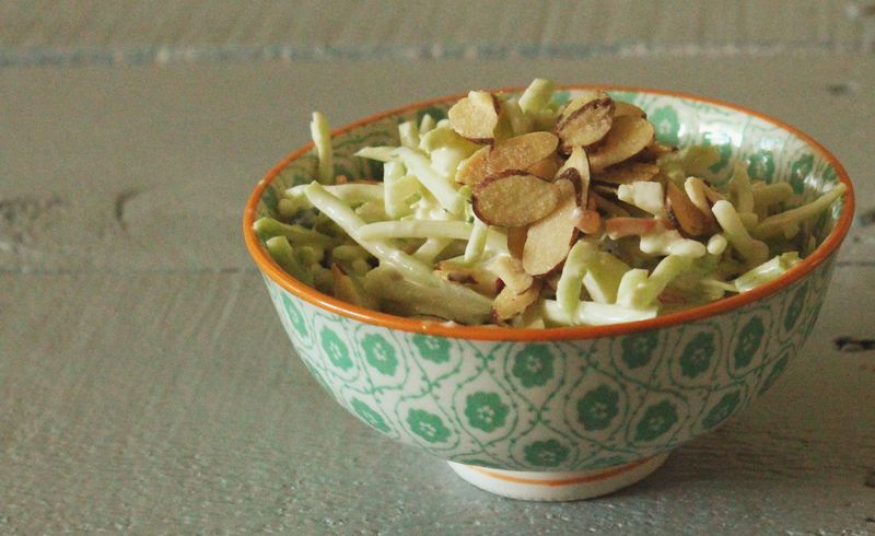 Just Make Stuff Blog...Broccoli Slaw with Apples and Feta
