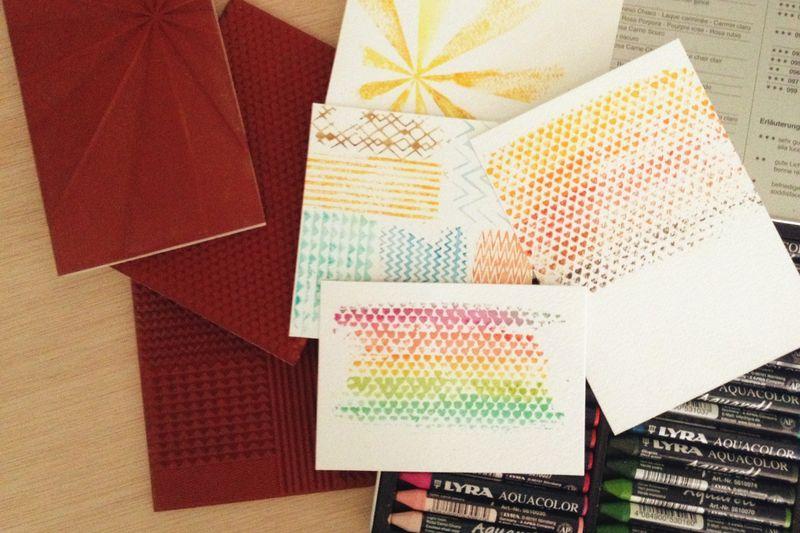 Just Make Stuff Blog...Watercolor Stamping