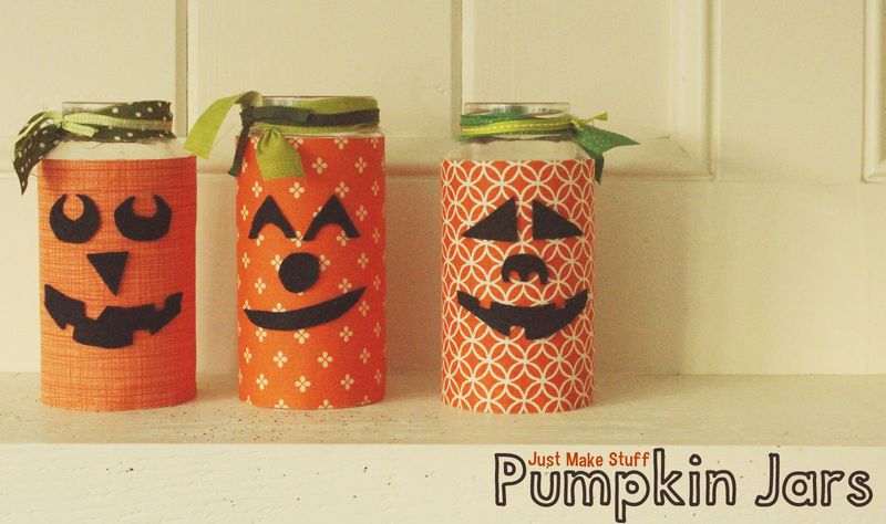 Just Make Stuff Blog...Pumpkin Jars