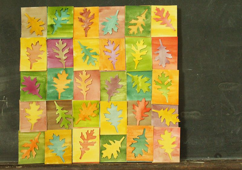 Just Make Stuff Blog...Watercolor Leaves Canvas