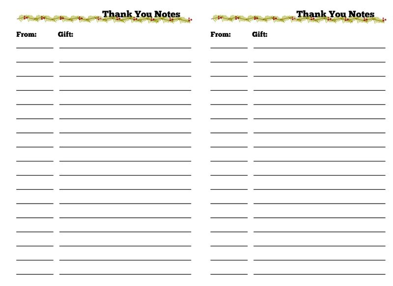 Planner Thank You Notes..