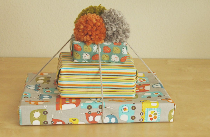 Just Make Stuff Blog...Fabric Gift Wrapping