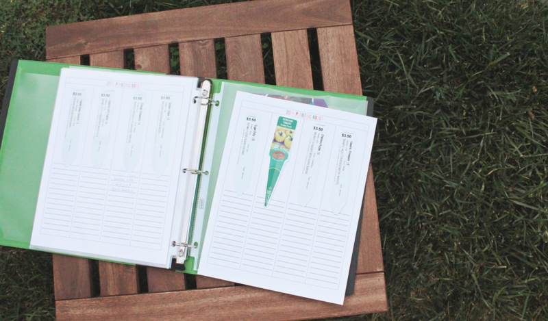 Free Printable Planting Notes Form...Just Make Stuff Blog