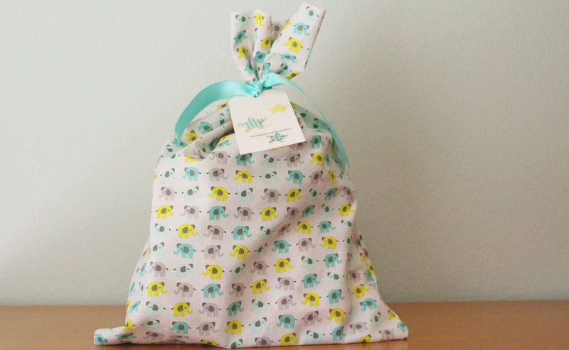 Fabric Bag Gift Wrapping...Just Make Stuff Blog