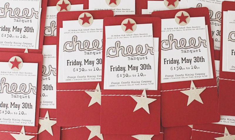 Cheerleading Banquet Invitations...Just Make Stuff Blog
