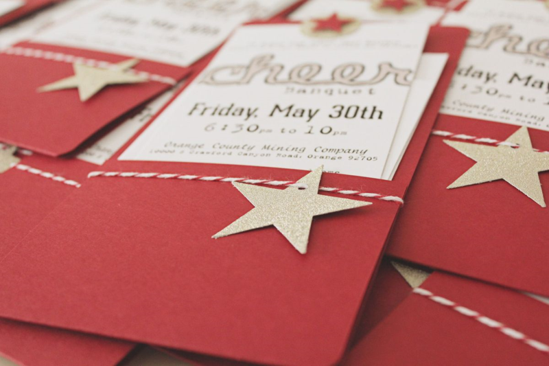 heerleading Banquet Invitations...Just Make Stuff Blog
