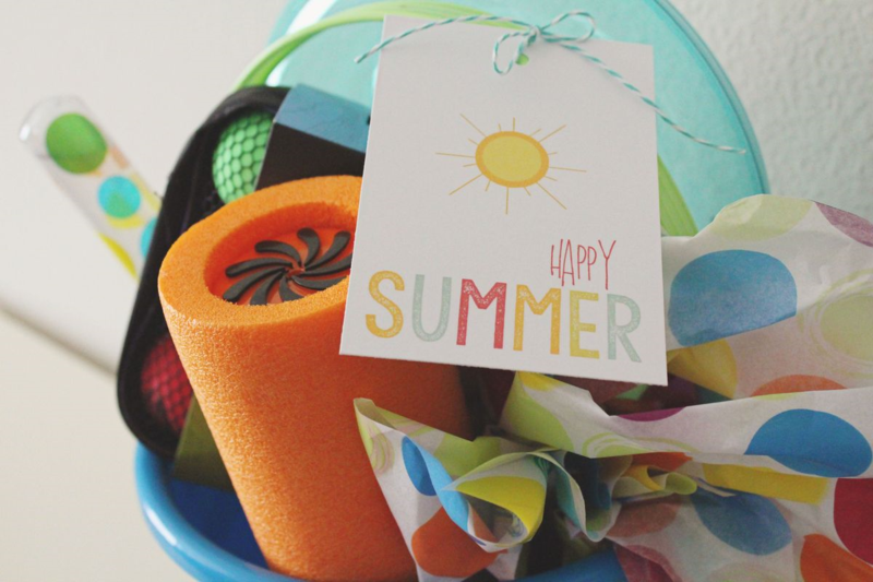Last Day of School Happy Summer Buckets...Just Make Stuff Blog