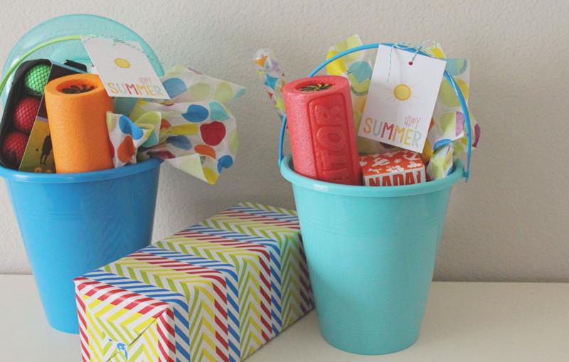 Last Day of School Happy Summer Buckets...Just Make Stuff Blog