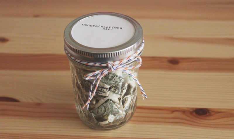 Money Gift in a Jar...Just Make Stuff Blog