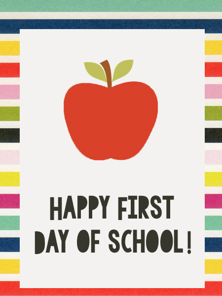Happy First Day of School Tag...Just Make Stuff Blog