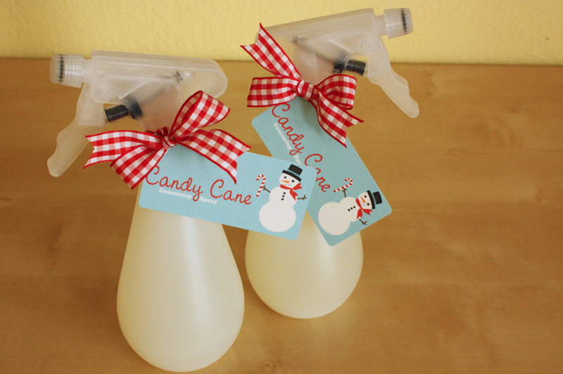 Candy Cane Countertop Spray...Just Make Stuff