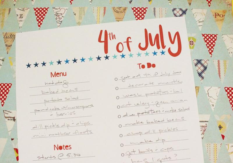 Free 4th of July Planning Printable...Just Make Stuff Blog