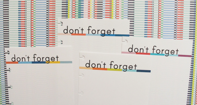 Free Printable Don't Forget Notes...Just Make Stuff Blog