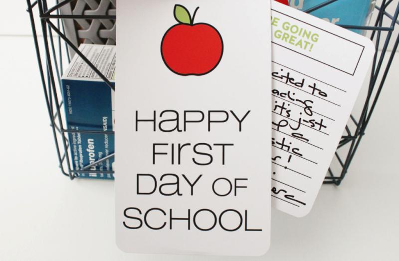 First Day of School Teacher Gift...Just Make Stuff Blog