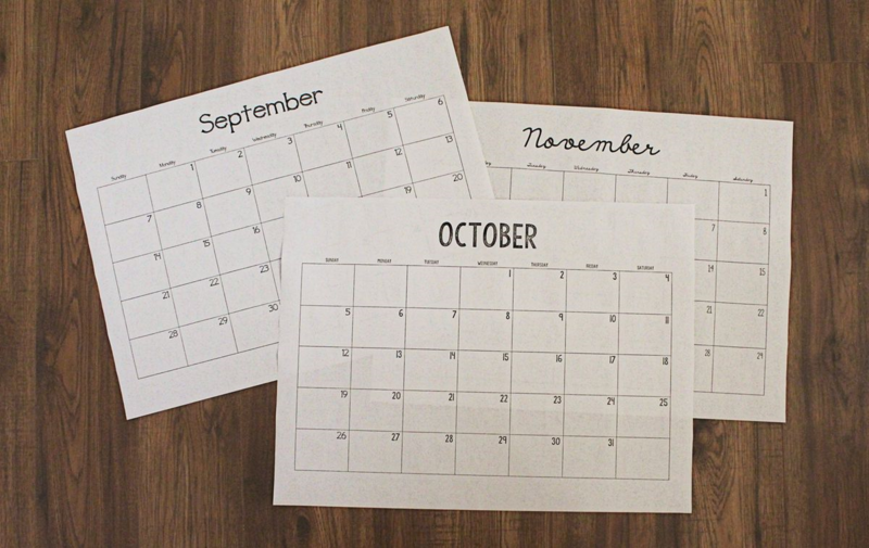 Printable Calendar...Just Make Stuff Blog