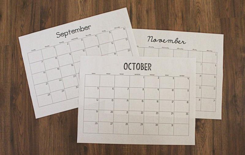 Printable Calendar...Just Make Stuff Blog