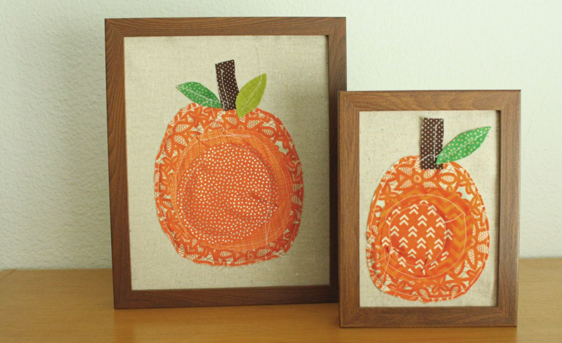 Fabric Pumpkin Frames...Just Make Stuff Blog