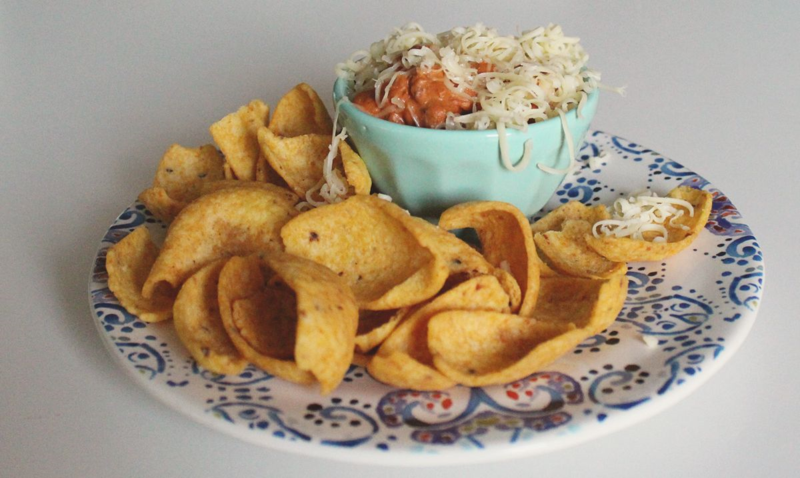 Cheesy Taco Bean Dip...Just Make Stuff Blog