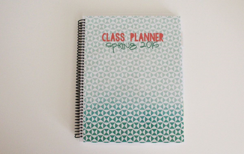College Class Planner...Just Make Stuff Blog