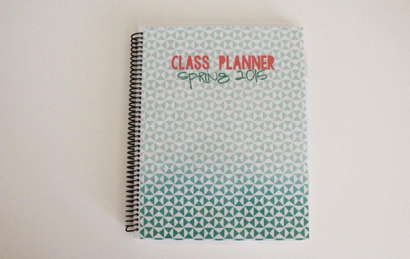 College Class Planner...Just Make Stuff Blog