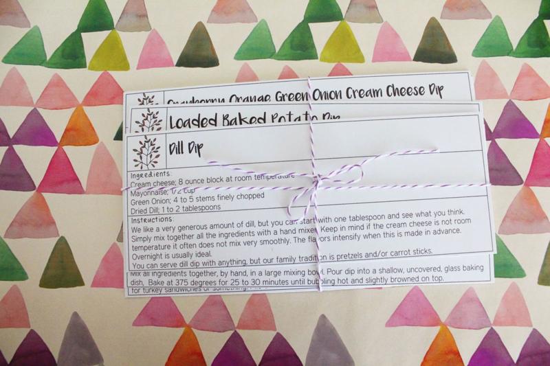 Recipe Card Wedding Gift...Just Make Stuff Blog