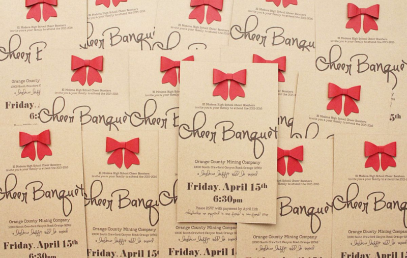 Cheer Banquet Invitations...Just Make Stuff Blog